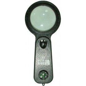 Lupa cu rama, iluminare, UV, busola, termometru, diam.: 50 mm - J108
