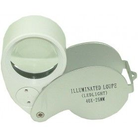 Lupa , cu iluminare LED - 40x-25 mm - MG21011
