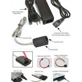 Adaptor extern, USB - HDD 2,5''/ 3,5''