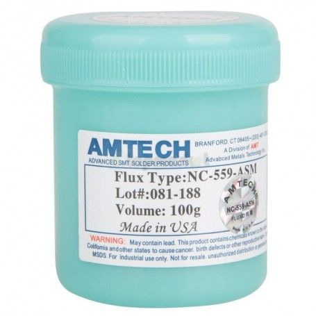 Pasta Flux Amtech NC- 559- ASM, Made in USA 100g