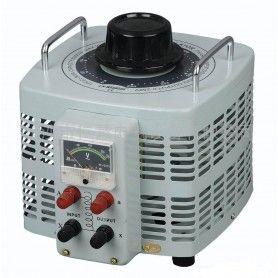 Autotransformator monofazic, 220V - 0...250V - 3000VA/12A, 3KW, voltmetru analogic
