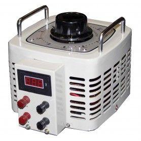 Autotransformator monofazic, 220V - 0...250V - 3000VA/12A, 3KW, voltmetru digital