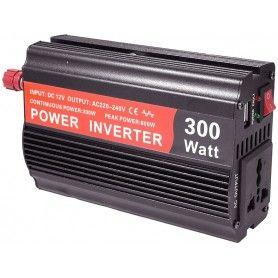 Invertor de tensiune, 12V - 220V - 300W + 5V, USB