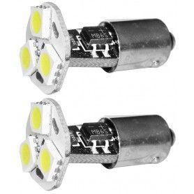 Set 2 becuri auto cu LED-uri SMD, 12V/160mA - lumina alb/rece
