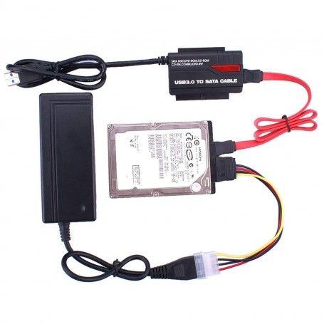 ADAPTOR USB 3.0 HDD/SSD SATA IDE 2'5 si 3'5 si la dvd-rw ata/sata