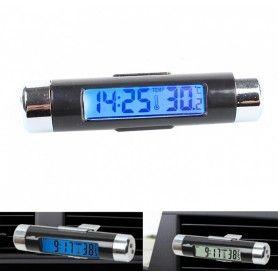 Termometru si Ceas Electronic pentru Masina cu Afisaj LCD