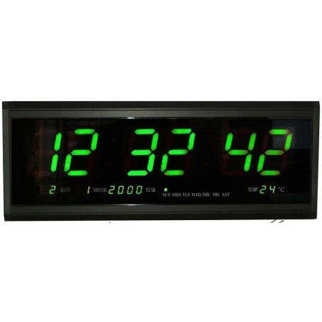 Ceas electronic, cu calendar, afisaj verde