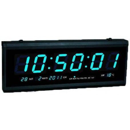 Ceas electronic, cu calendar, afisaj albastru