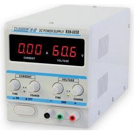 Sursa de laborator, simpla, af. digital, 0-60V - 0-5A - 605D