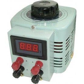 Autotransformator monofazic, 220V -   0...250V - 2000VA/8A, 2KW, voltmetru digital
