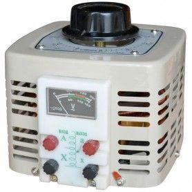 Autotransformator monofazic, 220V - 0...250V - 2000VA/8A, 2KW, voltmetru analogic