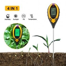 Tester sol de plante digital 4 in 1 PH Umiditate Intensitate Luminoasa, Temperatura Solului