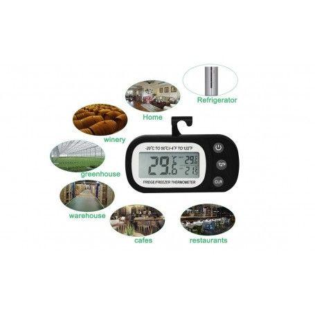 Termometru pentru frigider, interval -20 +50°C, cu inregistrare valori minime/maxime